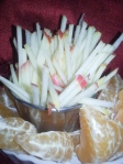 Apple Match Sticks or Fries for a Snack