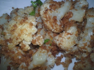 TryitVegan cooliflour with breadcrumbs zest