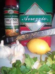 TryitVegan Delish Cauliflower ingredients organic bread crumbs garlic lemon zest olive oil parsley