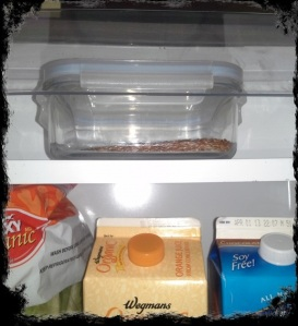 TiV Keep Flax Seeds in your Refrigerator Sealed