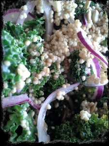 TiV Kale Quinoa salad close