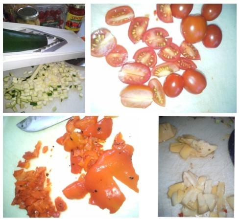Tiv sliced veggies